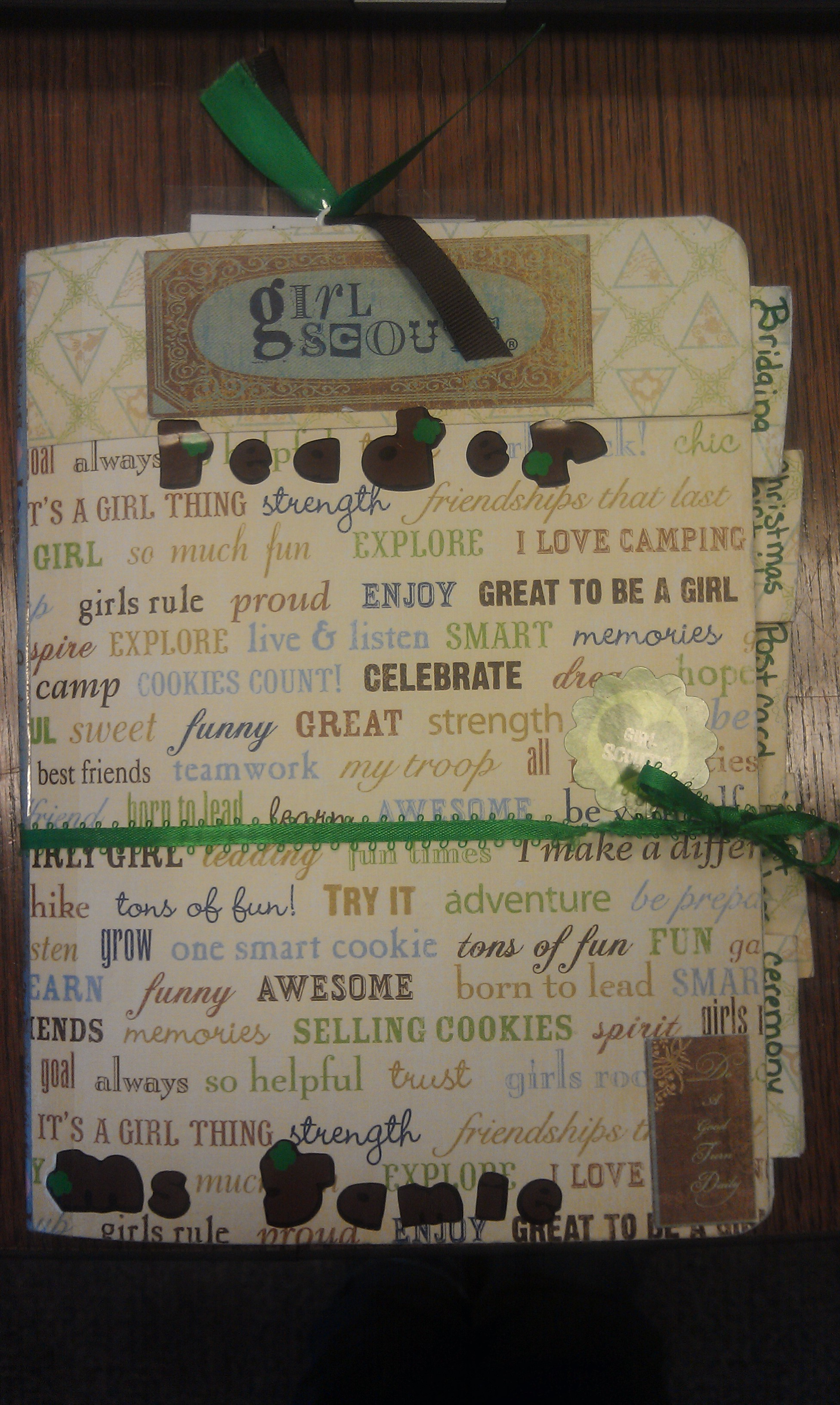 Girl scout scrapbook ideas - Just Like The Others It Just Takes Some Scrapbook Paper And A Composition Book I Have Even Thought About Having My Troop Make Smash Books This Way